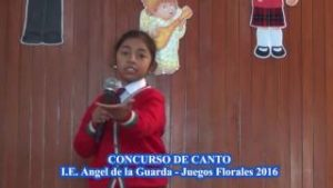 I.E.  ANGEL DE LA GUARDA – JUEGOS FLORALES 2016 – CONCURSO DE CANTO