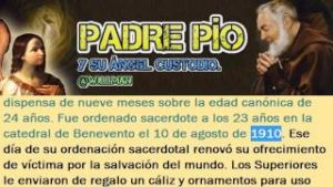 El Padre Pío y su Ángel de la Guarda !