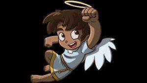 Oración Angel de la Guarda animada para niños